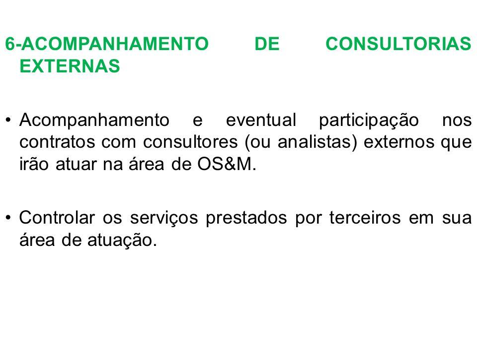 6-ACOMPANHAMENTO DE CONSULTORIAS EXTERNAS