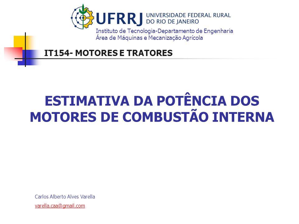 ESTIMATIVA DA POTÊNCIA DOS MOTORES DE COMBUSTÃO INTERNA