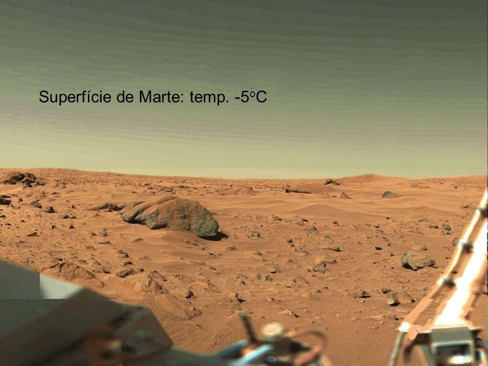 Superfície de Marte: temp. -5oC