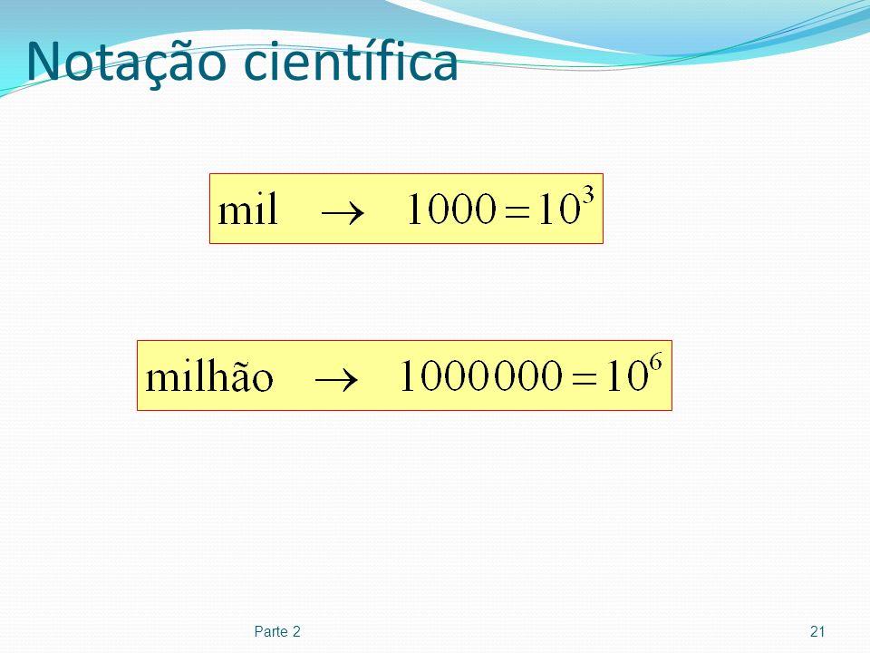Notação científica Parte 2