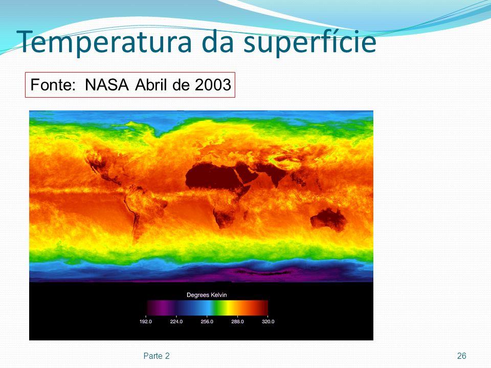 Temperatura da superfície