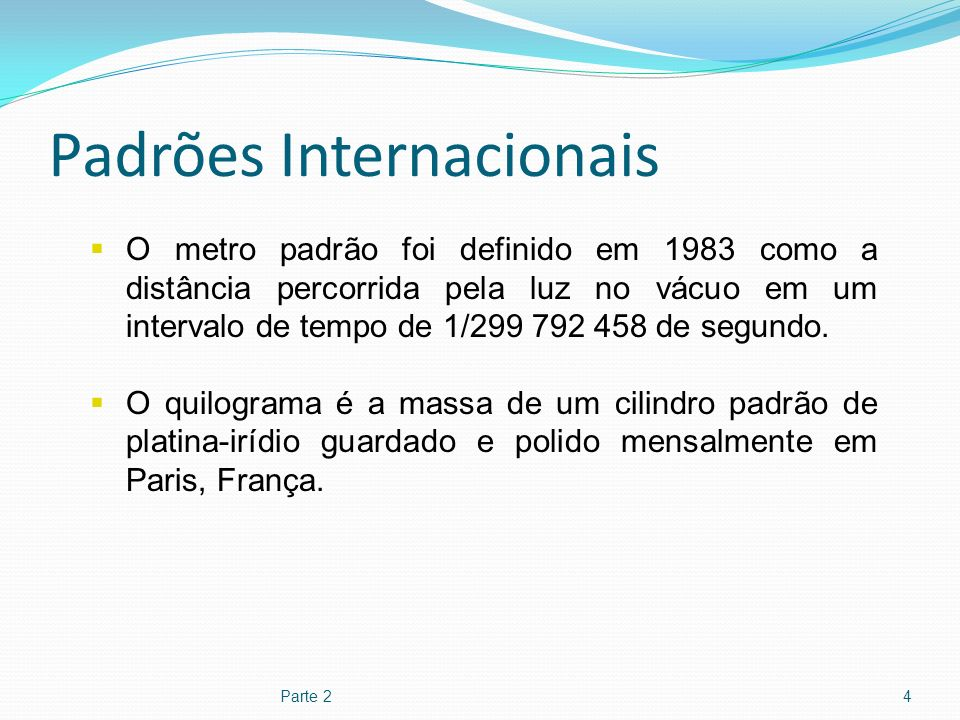 Padrões Internacionais