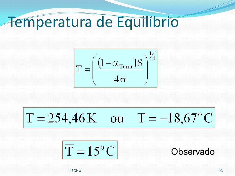 Temperatura de Equilíbrio
