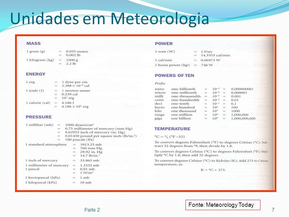 Unidades em Meteorologia