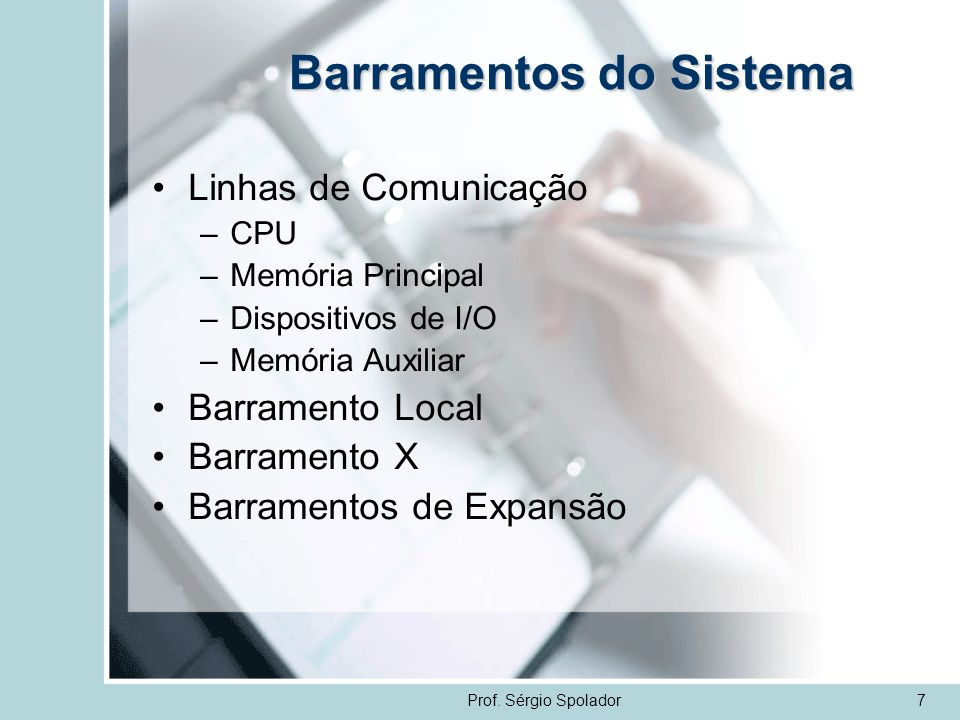 Barramentos do Sistema