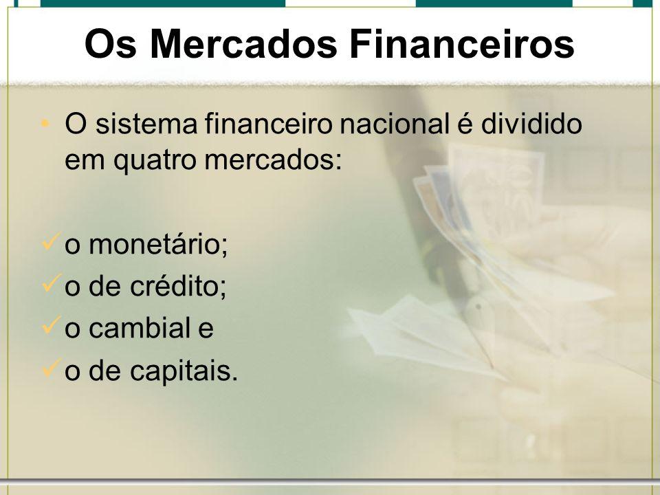 Os Mercados Financeiros