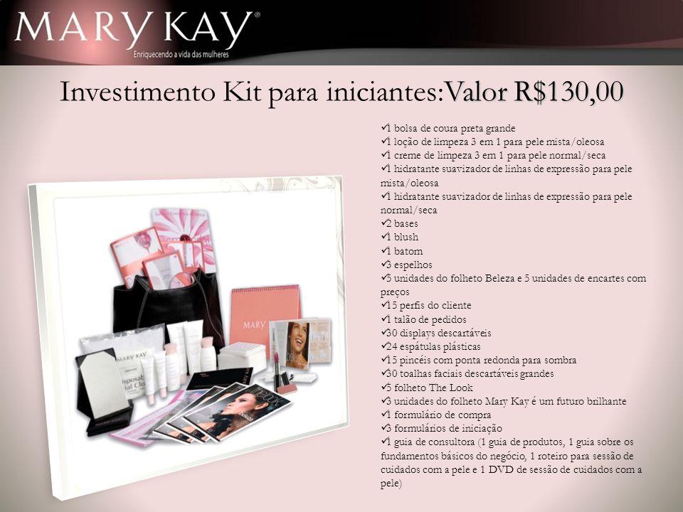 Investimento Kit para iniciantes:Valor R$130,00
