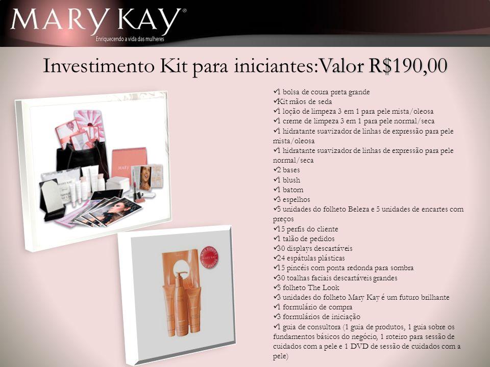 Investimento Kit para iniciantes:Valor R$190,00