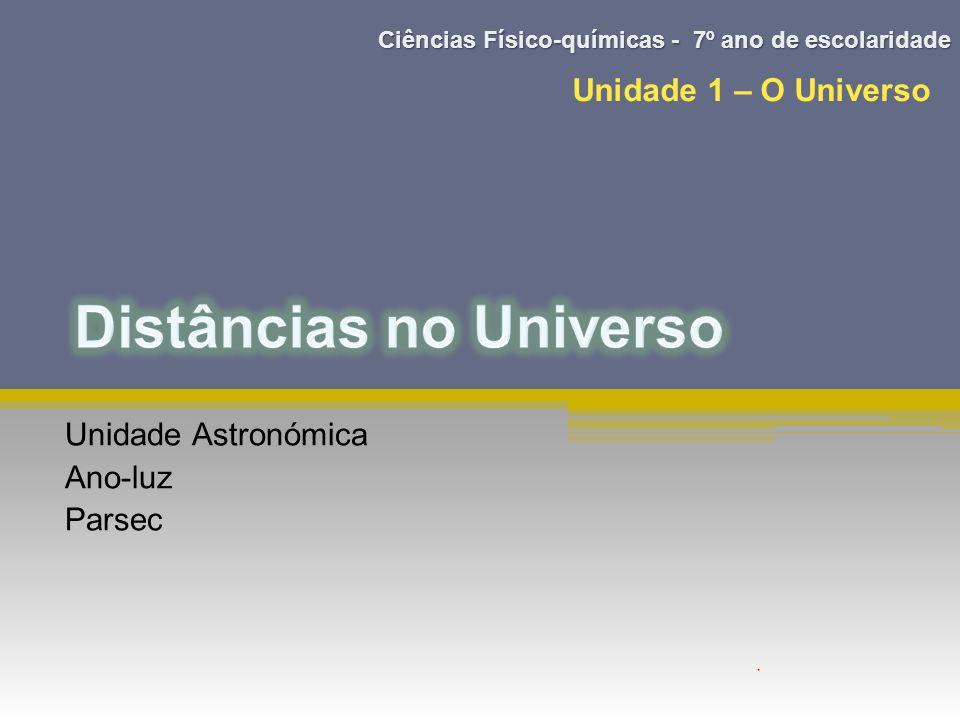 Unidade Astronómica Ano-luz Parsec