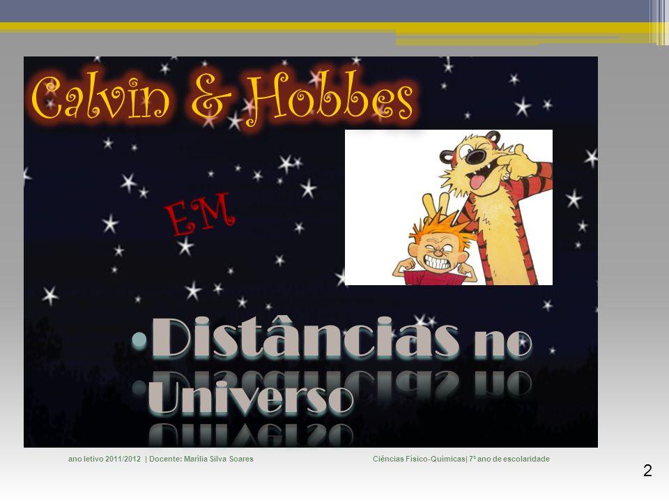 Calvin & Hobbes Distâncias no Universo EM
