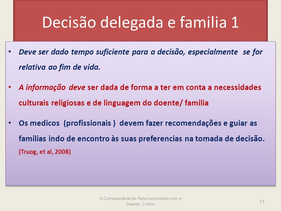 Decisão delegada e familia 1