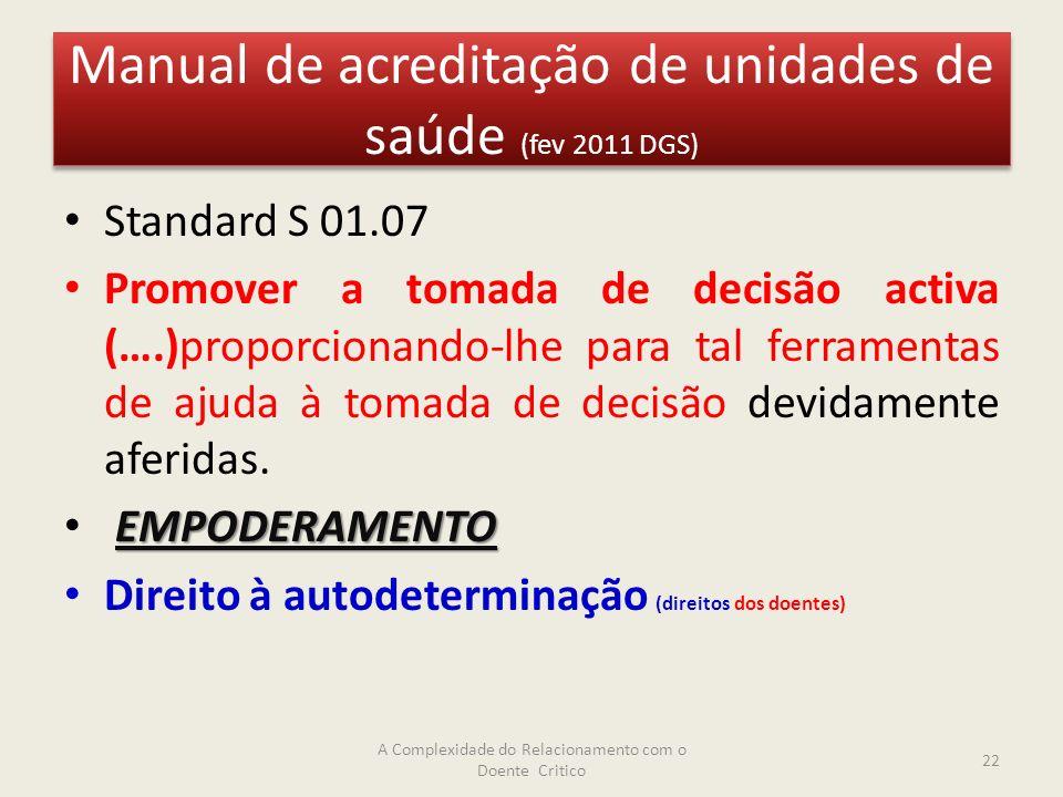 Manual de acreditação de unidades de saúde (fev 2011 DGS)