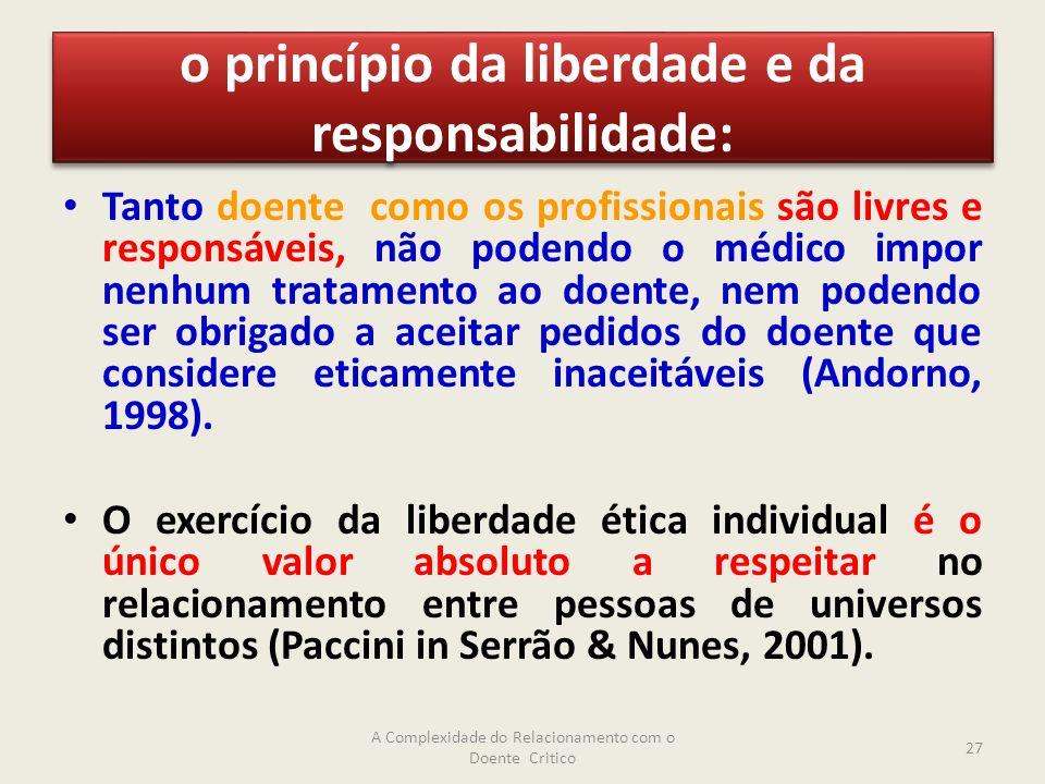 o princípio da liberdade e da responsabilidade: