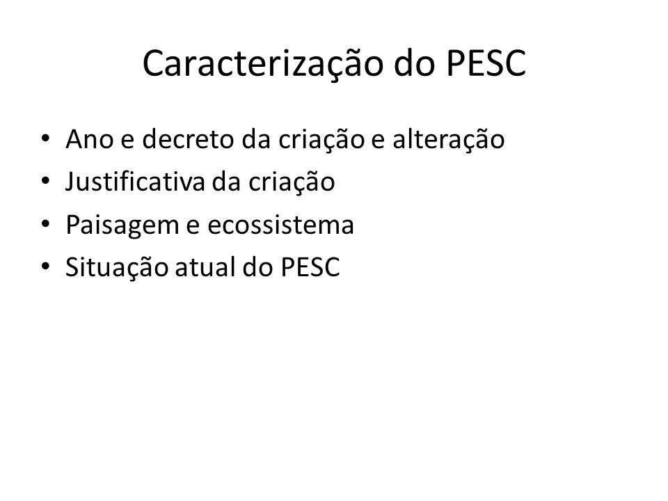 Caracterização do PESC