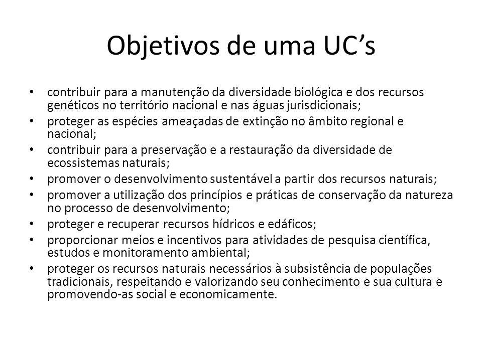 Objetivos de uma UC's
