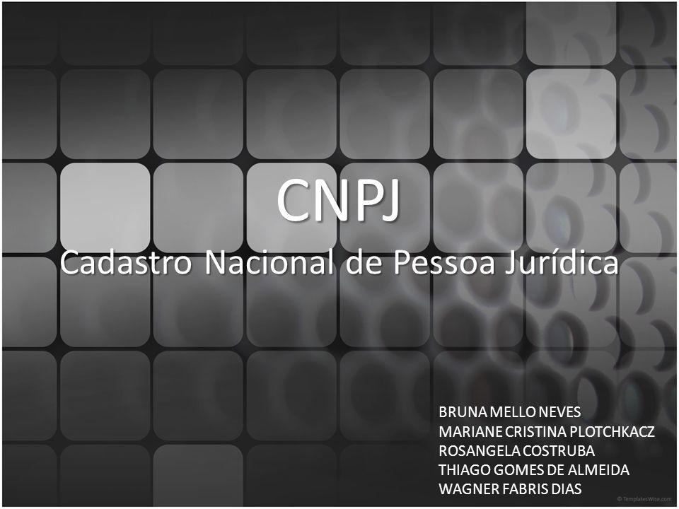 CNPJ Cadastro Nacional de Pessoa Jurídica
