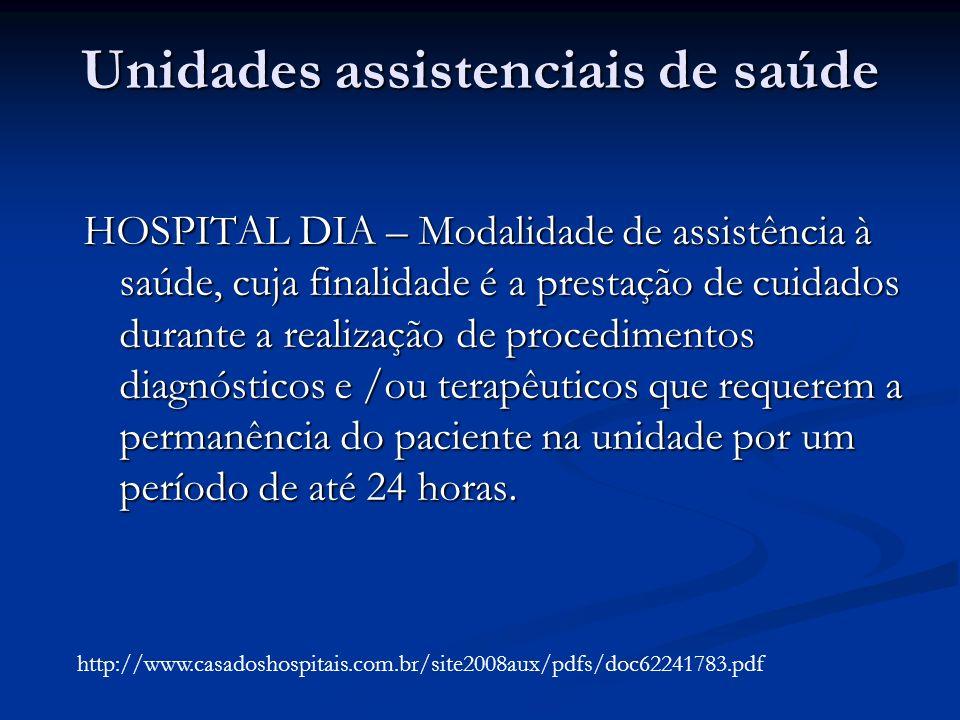 Unidades assistenciais de saúde
