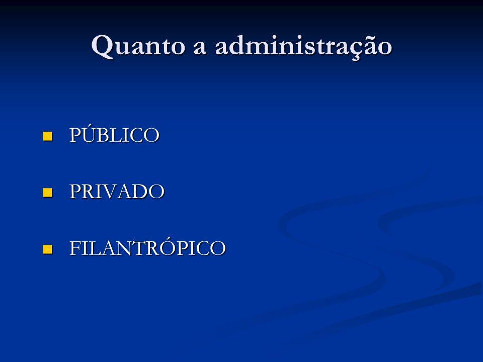 Quanto a administração
