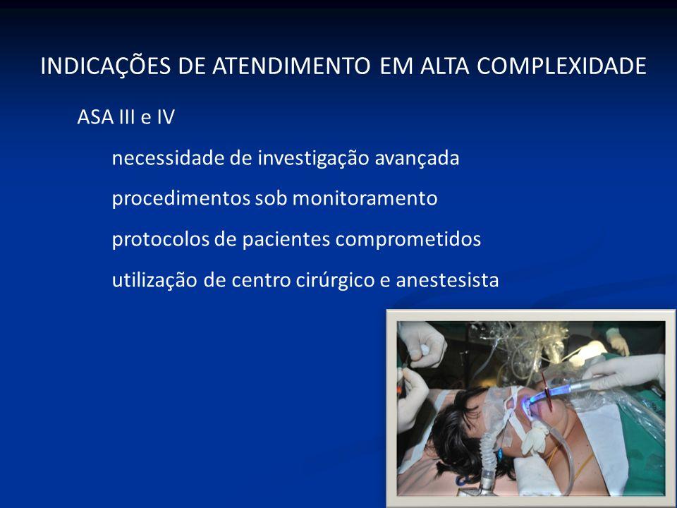 INDICAÇÕES DE ATENDIMENTO EM ALTA COMPLEXIDADE