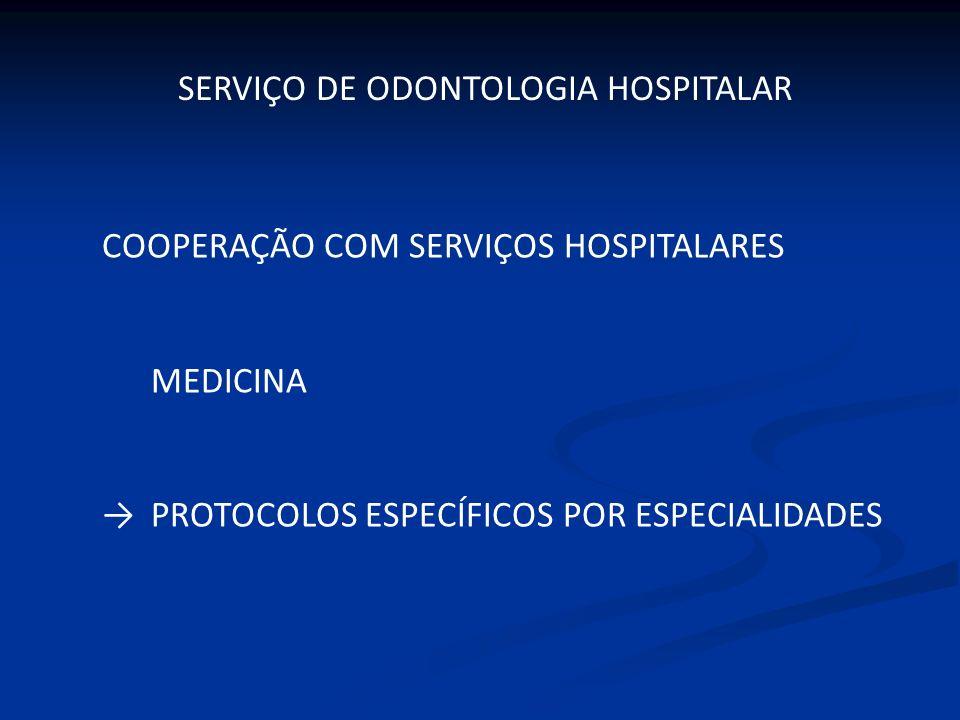 SERVIÇO DE ODONTOLOGIA HOSPITALAR