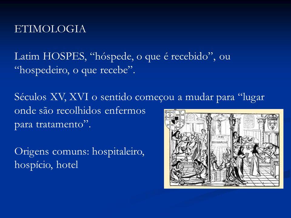 ETIMOLOGIA Latim HOSPES, hóspede, o que é recebido , ou hospedeiro, o que recebe .
