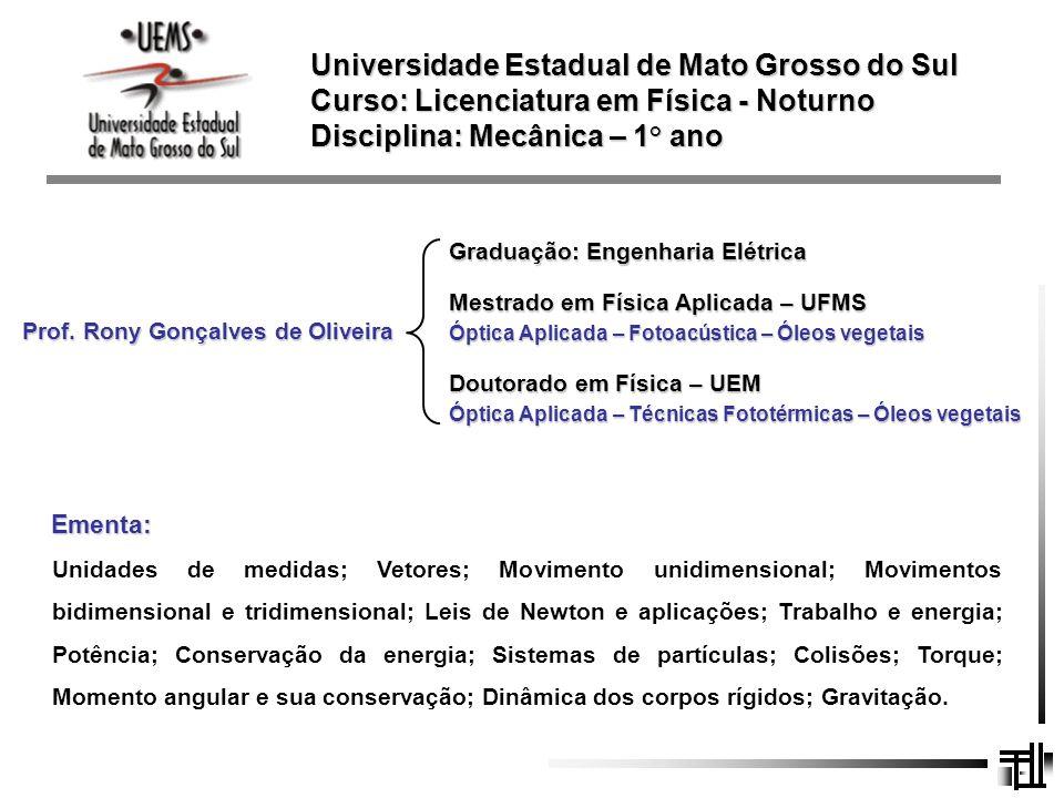 Prof. Rony Gonçalves de Oliveira