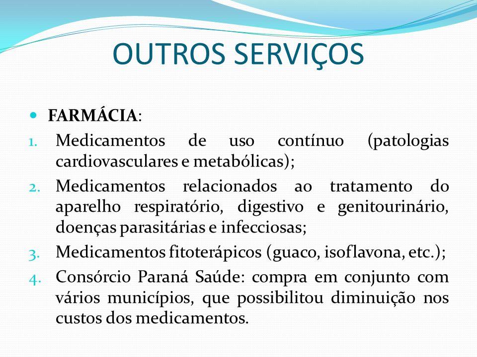 OUTROS SERVIÇOS FARMÁCIA: