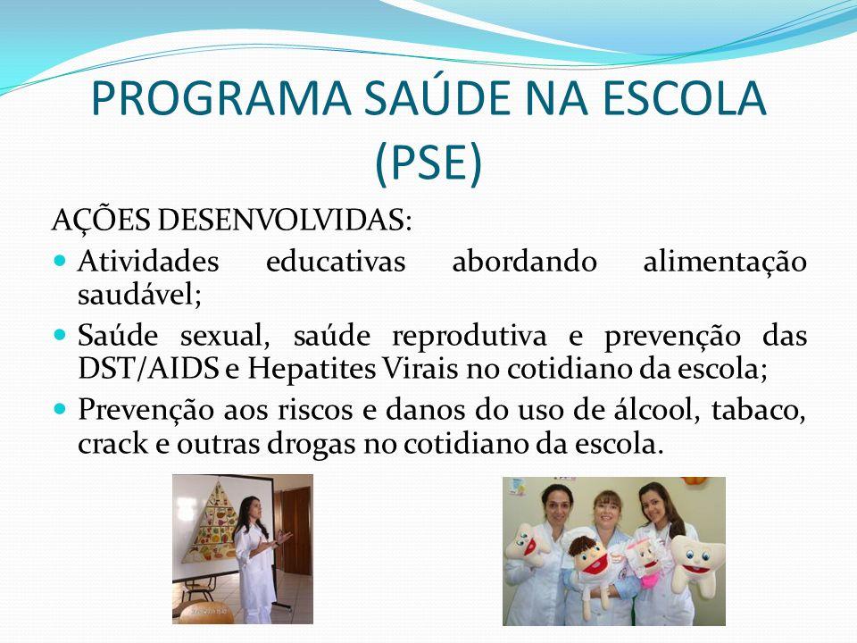 PROGRAMA SAÚDE NA ESCOLA (PSE)