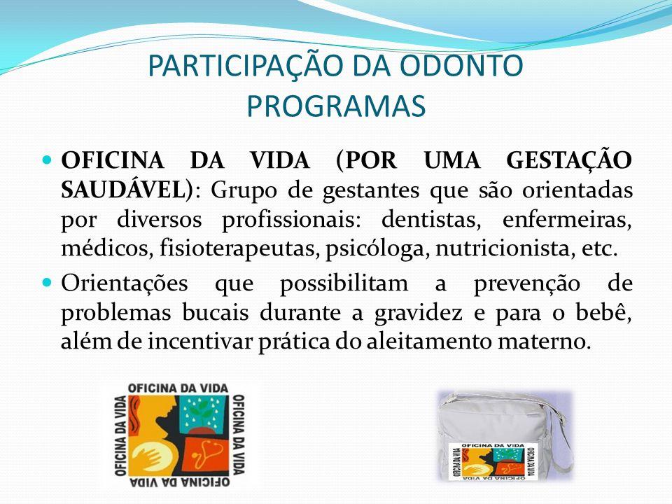 PARTICIPAÇÃO DA ODONTO PROGRAMAS