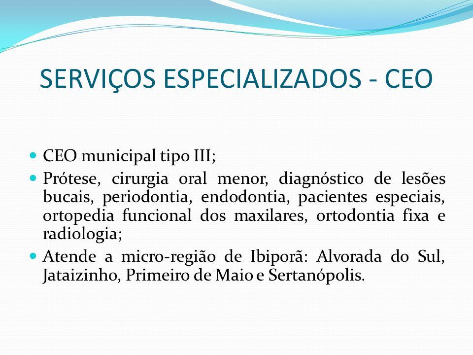 SERVIÇOS ESPECIALIZADOS - CEO