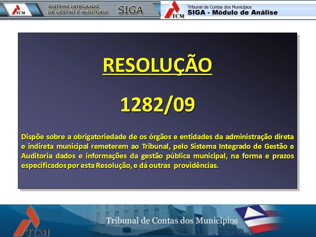 RESOLUÇÃO 1282/09.