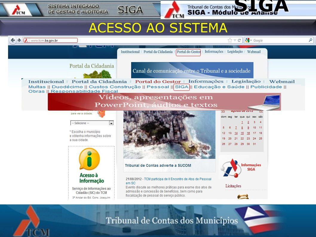 SIGA ACESSO AO SISTEMA 13