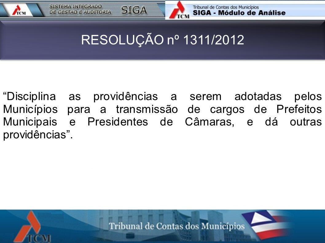 RESOLUÇÃO nº 1311/2012