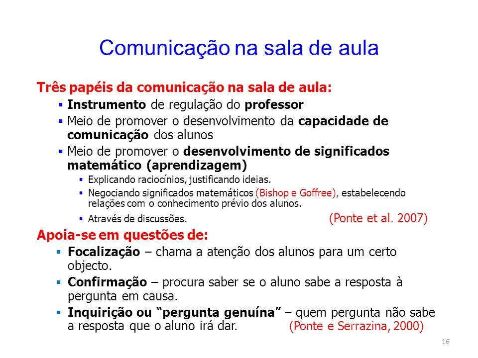 Comunicação na sala de aula