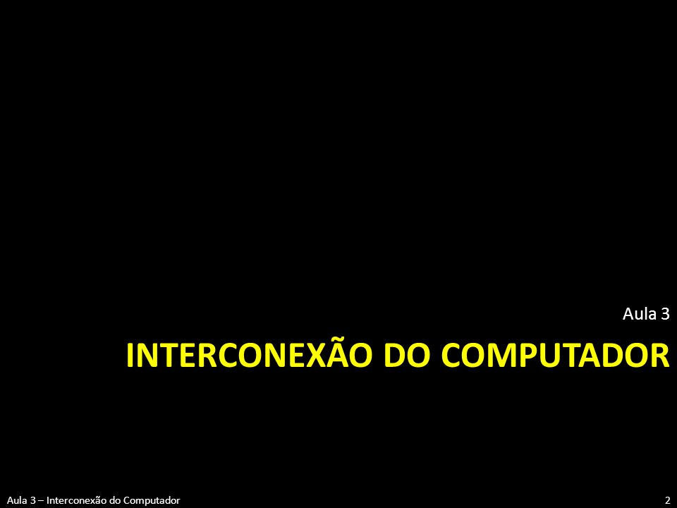 Interconexão do computador