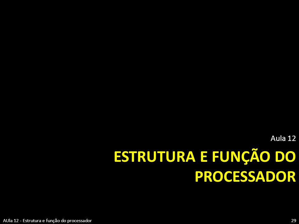 Estrutura e função do processador