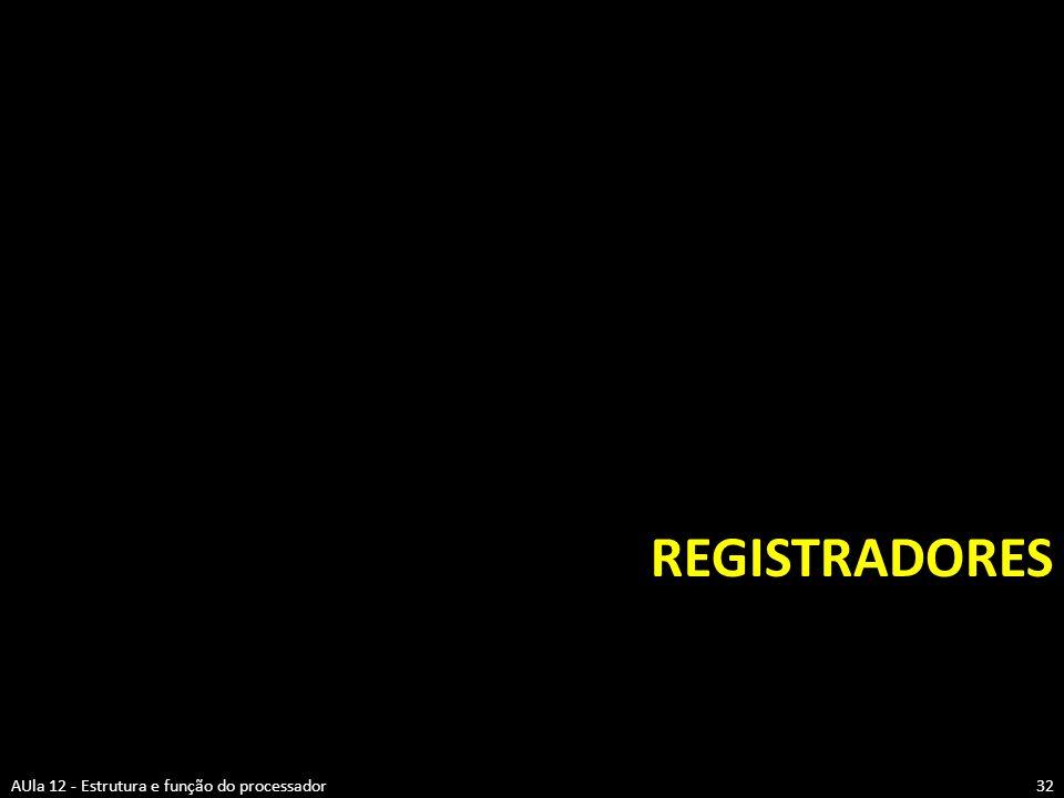 Registradores AUla 12 - Estrutura e função do processador