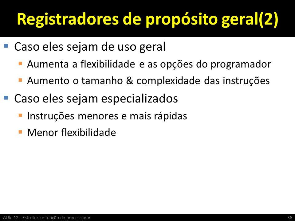 Registradores de propósito geral(2)