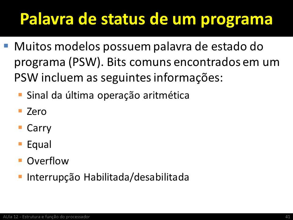 Palavra de status de um programa