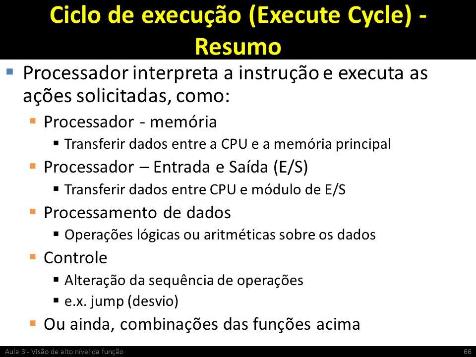 Ciclo de execução (Execute Cycle) - Resumo