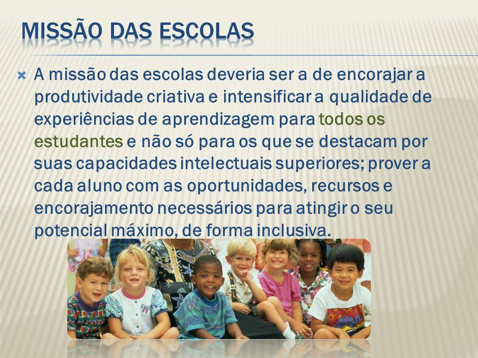 missão das escolas