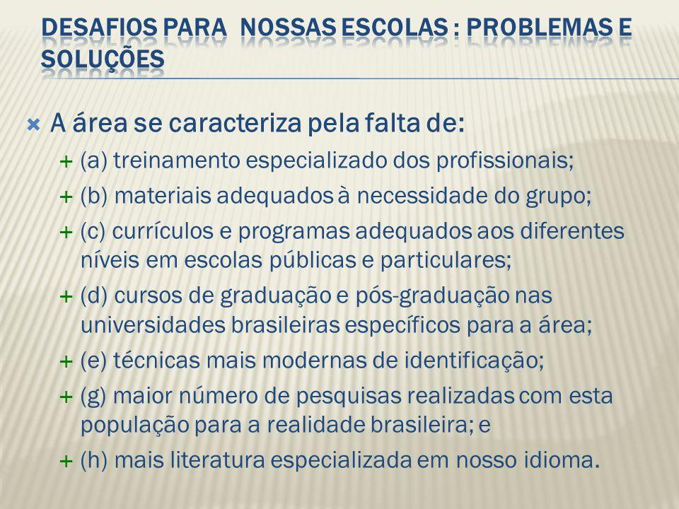 Desafios para nossas escolas : problemas e soluções