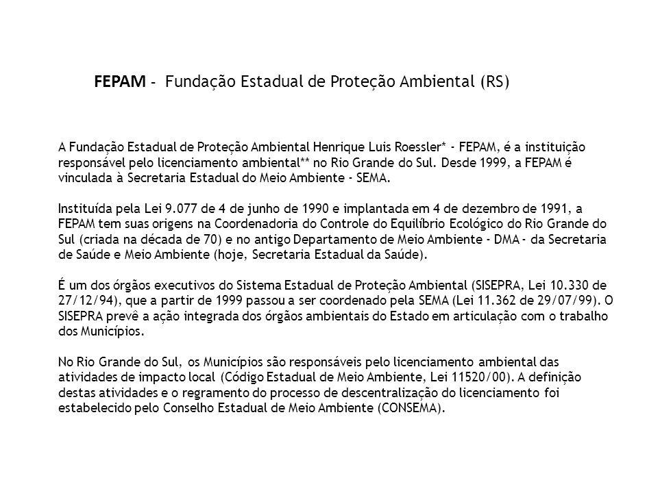 FEPAM - Fundação Estadual de Proteção Ambiental (RS)