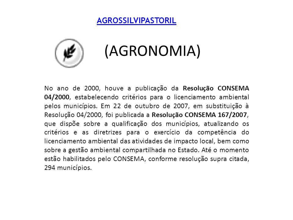 (AGRONOMIA) AGROSSILVIPASTORIL