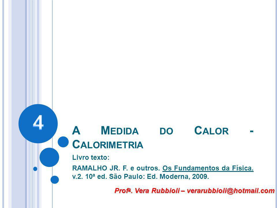 A Medida do Calor - Calorimetria