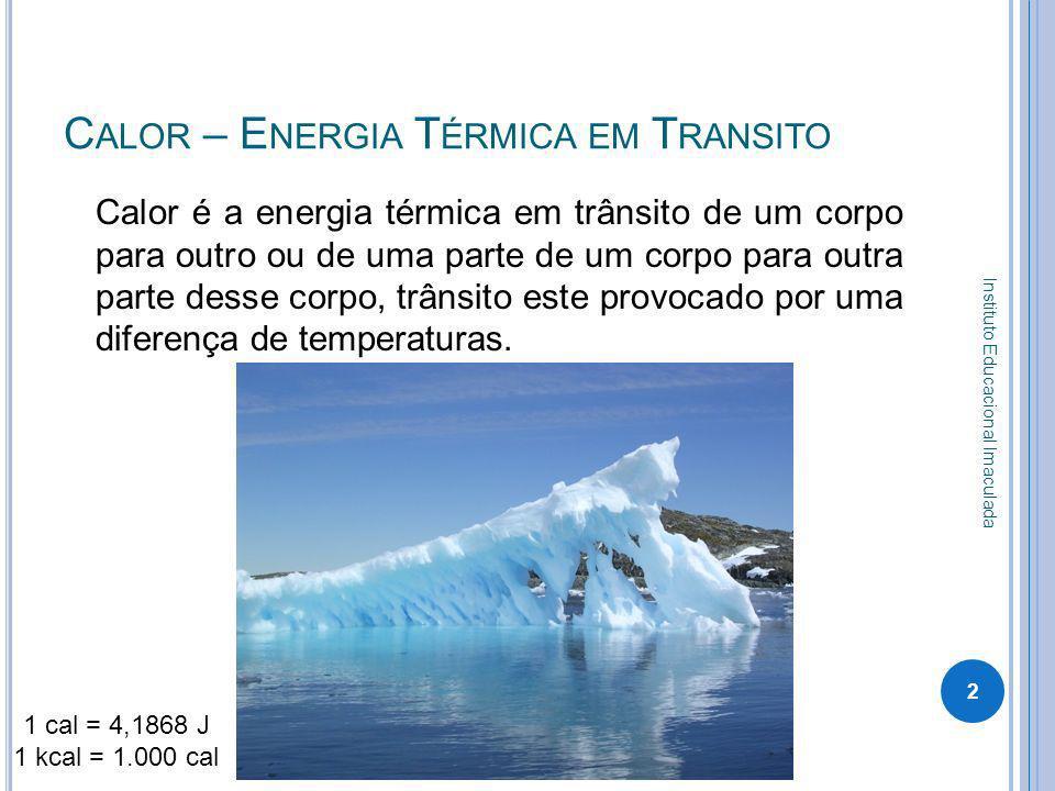 Calor – Energia Térmica em Transito
