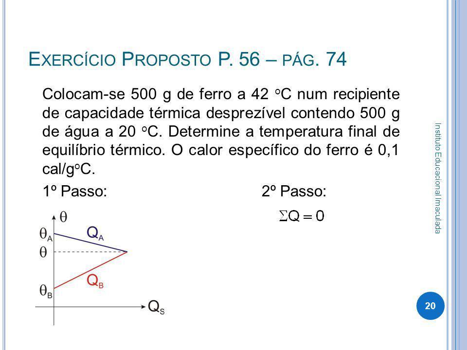 Exercício Proposto P. 56 – pág. 74