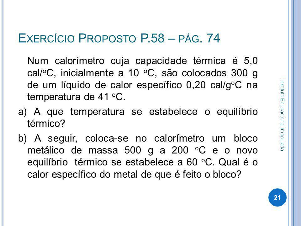 Exercício Proposto P.58 – pág. 74