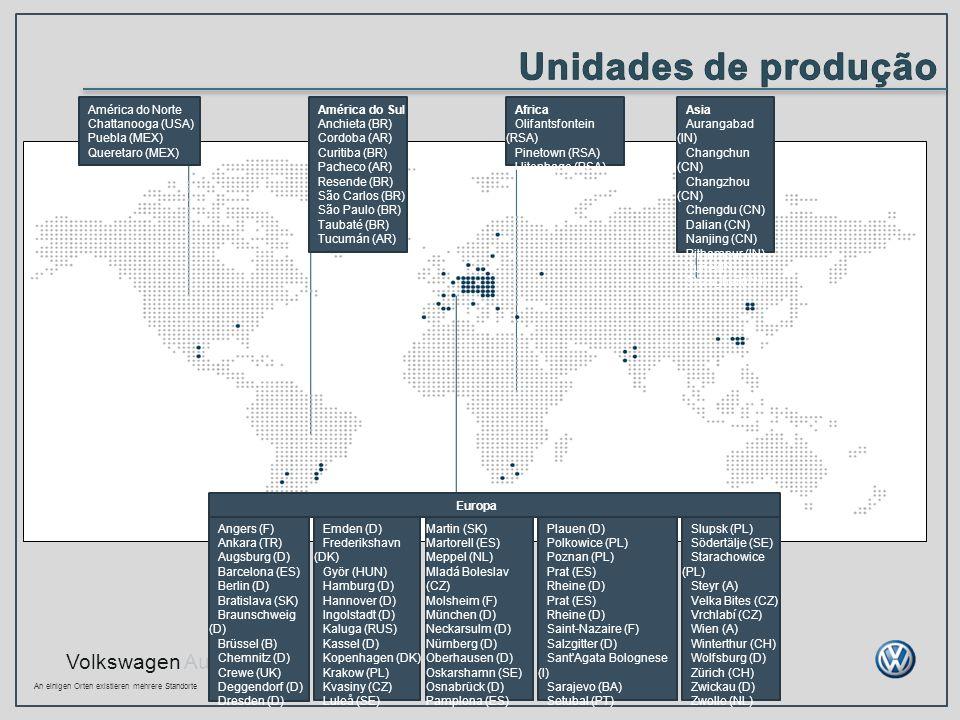 Unidades de produção América do Norte Chattanooga (USA) Puebla (MEX)
