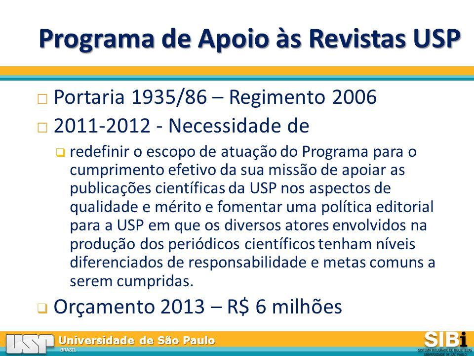 Programa de Apoio às Revistas USP